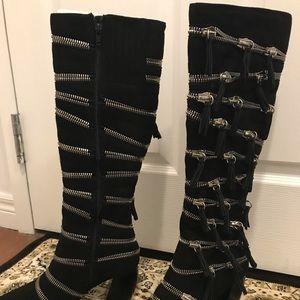 Jeffery Campbell Karloff suede boots